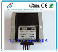 12V24V to 5V 20A 100W step down dc to dc transformer with waterproof