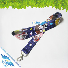 personalized heat transfer printing lanyard keychain sublimation with hook