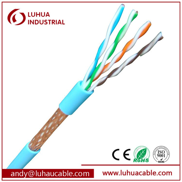 Lan Cable Factory Cat6 23AWG 4 Pairs SFTP Cat6 Network Cable