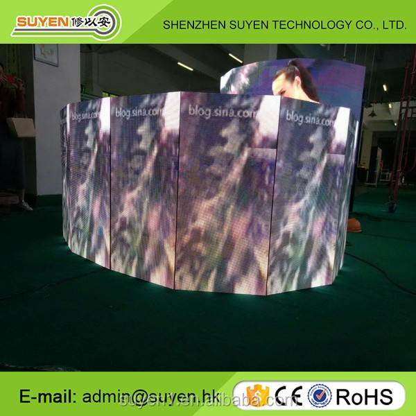 Hot selling led sign panel P6 P8 P10 P16 outdoor fixed flexible curved led display panel with Epistar chip