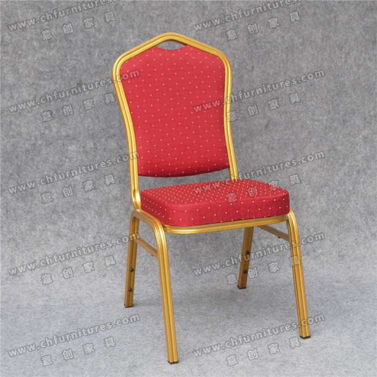 Durable aluminum frame red fabric rental banquet chairs for sale YCX-ZL22