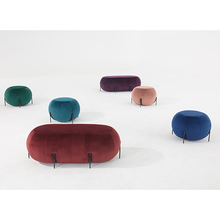 Best Quality Modern Design Velvet Fabric Ottoman Pouf for Living <strong>Furniture</strong> Used