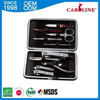 Newest Model Eyebrow Shaping Tools 8Pcs Manicure Set Case/Manicure/Pedicure Equipment