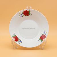 white porcelain deep plate ,porcelain dinnerware for sale
