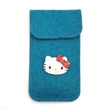 factory manufacturer felt cat brand name phone case with scale