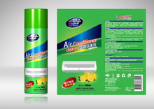 Cleaner solution for tube and odor of room or outside air conditioner unit system with industrial chemical spray foam