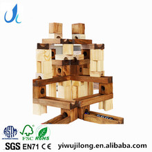 fashion creative 45pcs building clocks wooden pipeline building blocks ball bearing track blocks combine toys
