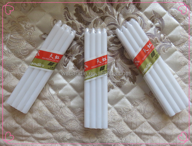 Candle supplier Wholesale white taper candle with good quality