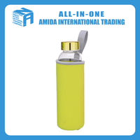 550ml transparent glass bottles with yellow cover