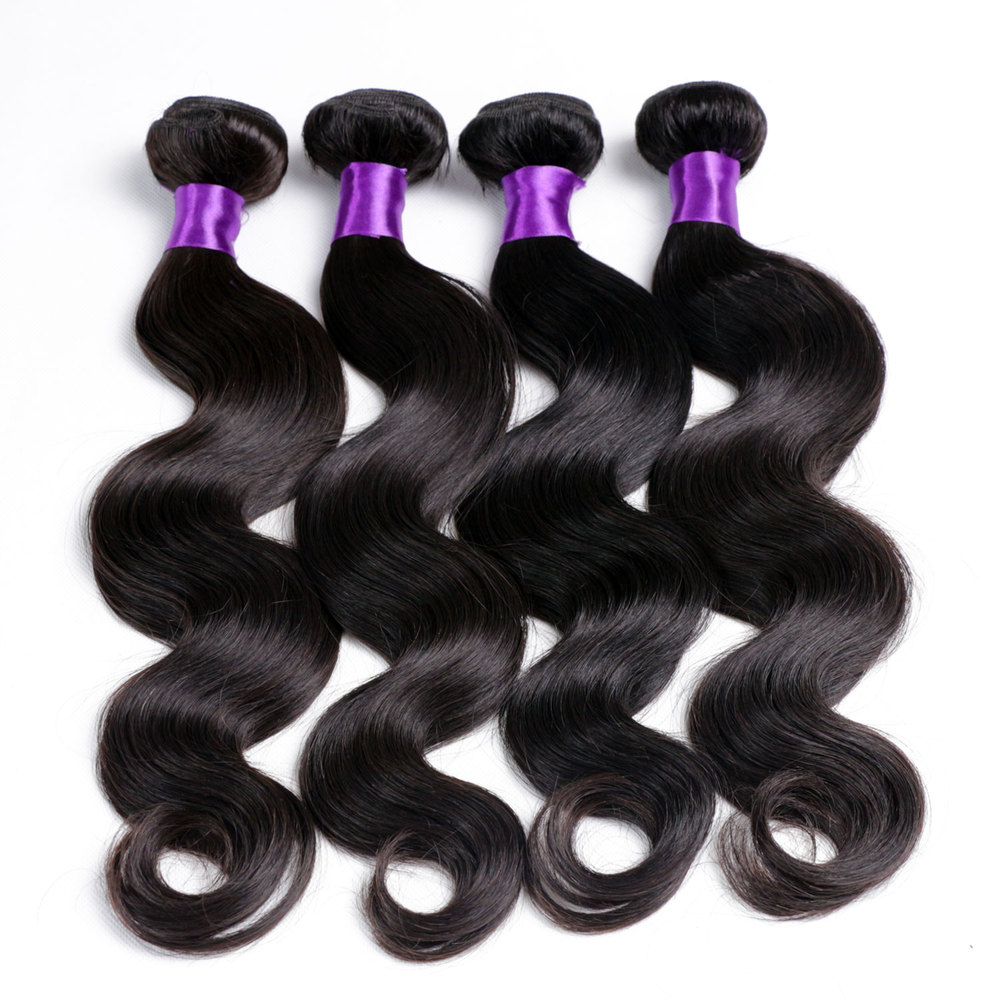 Best Selling Better Quality Real Tangle Free Brazilian Virgin Human Hair Weave Purple Remy Hair