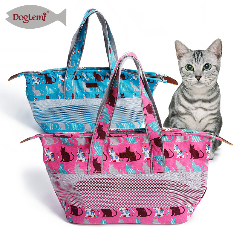 Canvas Pet Products Dog Carrier Cute Cat Picture Carrier For Small Pet