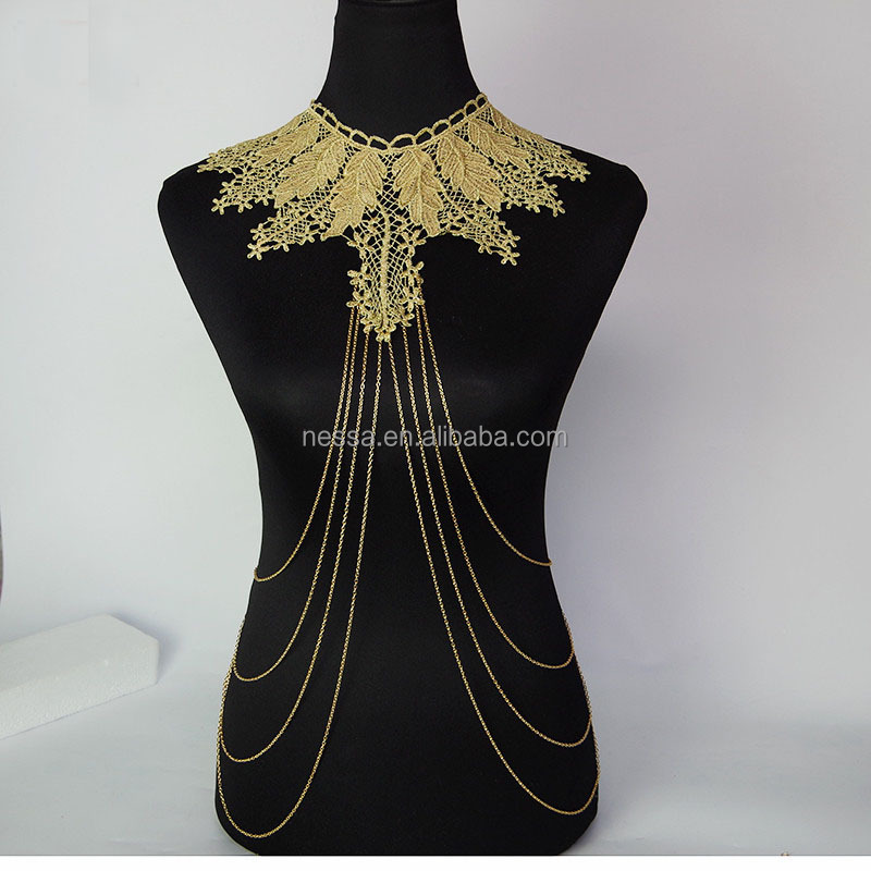 Fashion lace body chain jewelry for women wholesale ns for Body jewelry cheap prices