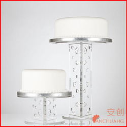 Clear Acrylic Wedding Cake Stand With Heart Design Column - Various Sizes