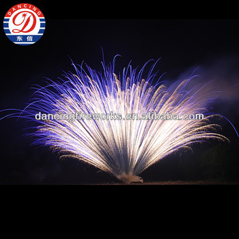 665 shots fan gold strobe large Fireworks Cake