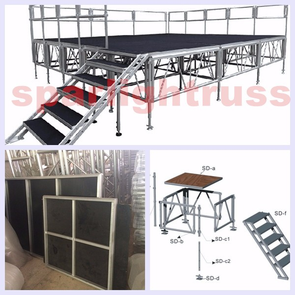 Outdoor Stages Folding Portable Aluminum truss Platform
