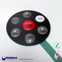HH1173 Rubber Push Button Membrane Switch for Camera