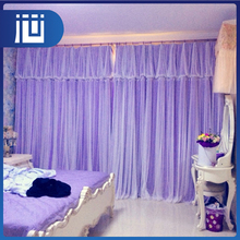 Factory price multicolor made to measure ruffled lace curtains with frill