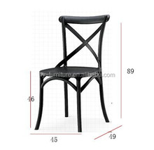new desgin plastic cross back chairs ,X plastic chairs for dining room HYX-681