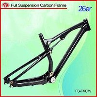 Dual suspension mountain 26ER bike carbon frame Full suspension MTB 26ER frame FM079