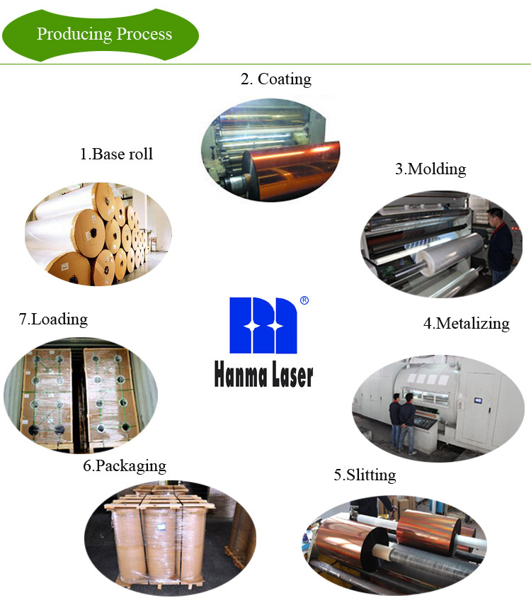 HM-009 PET Lasering Holographic Lamination Film in Roll