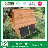 wholesale cheap wooden chicken coops with iron wire fence