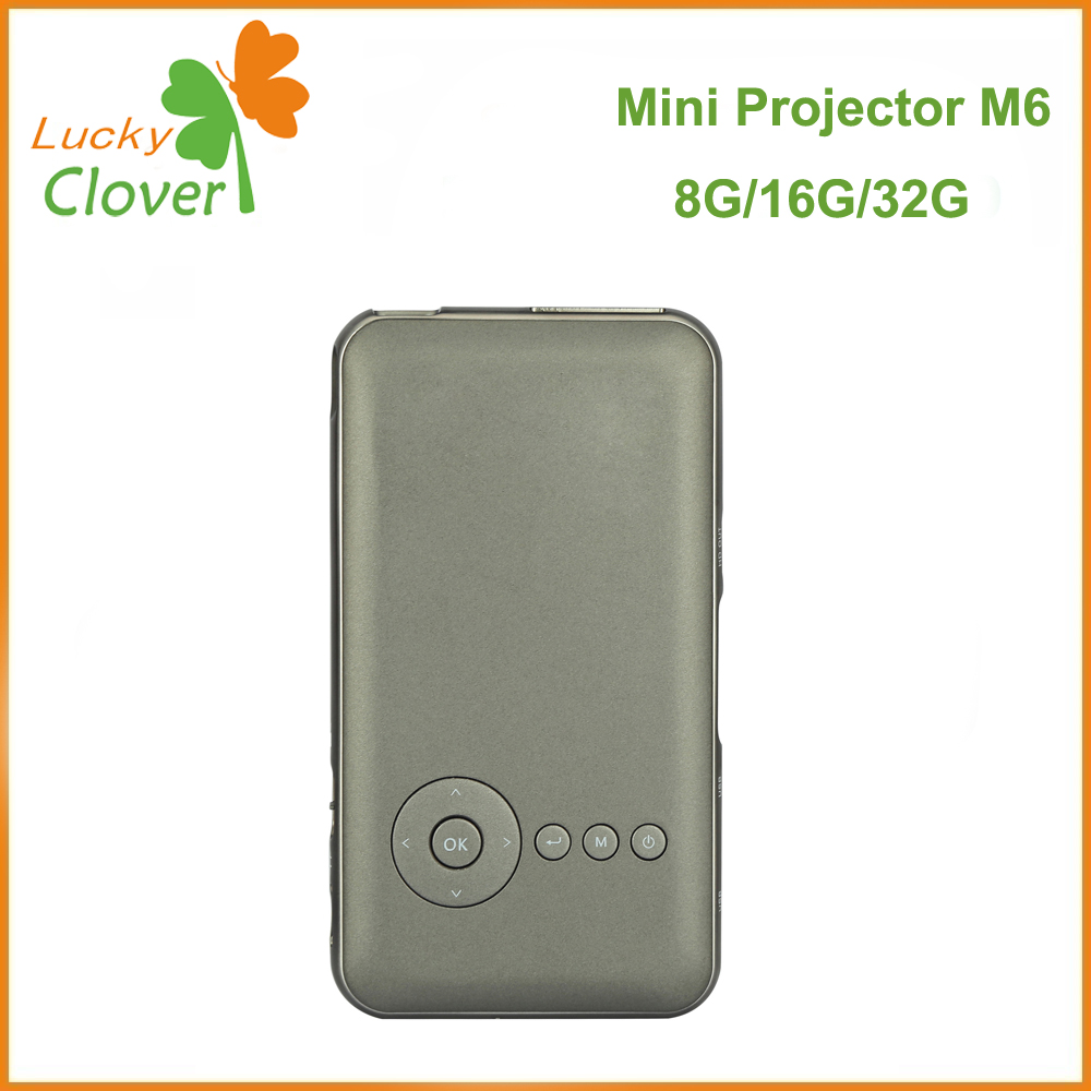 New Arrival!China supplier Mobile Phone Mini Home Theater Projector Android Portable Wireless Mini projector M6 8G/16G 32G