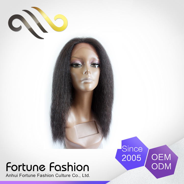 Online Shopping India Top Quality Raw Ponytail Lace Front Kinky Straight Wigs