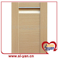 simple design pvc wrapped kitchen style cabinet door