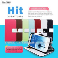 Original Solozen Hit Diary Case for Galaxy S3 Note for iphone 5 for Optimus G