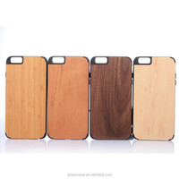 Fashion Wooden/Bamboo+PC Mobil Accessories Cell Phone Case for Iphone6/6s plus