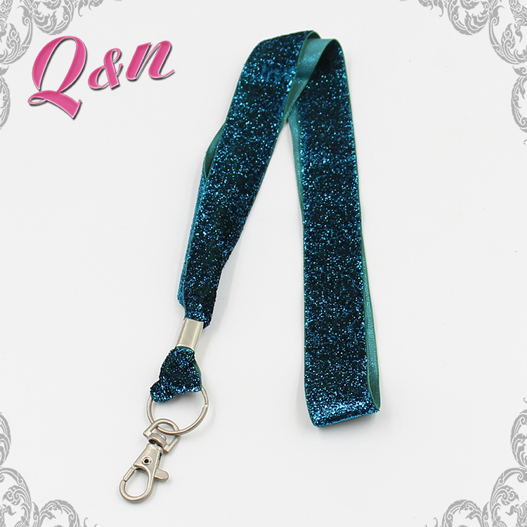 glitter ribbon water bottle holder lanyard