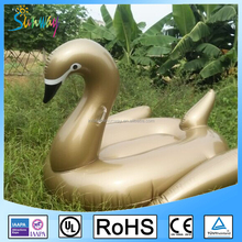 Swimming Pool Giant 6P PVC Gold Inflatable Swan Float