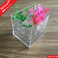 Square Acrylic Flower Box Clear Deluxry