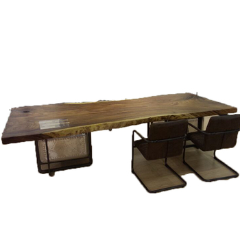 industrial style furniture office standing study wood top metal desk with drawers