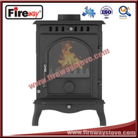Furnace bottom air intake cast iron indoor fireplace