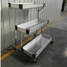 Decorative Trolley Cart-3-tier Shelf Cart