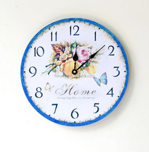 Wholesale home decoration 24 hours time digital wooden round wall clock 10 inches