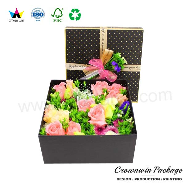 2017 Luxury Hard Cardboard Suitcase Gift Box for Flower