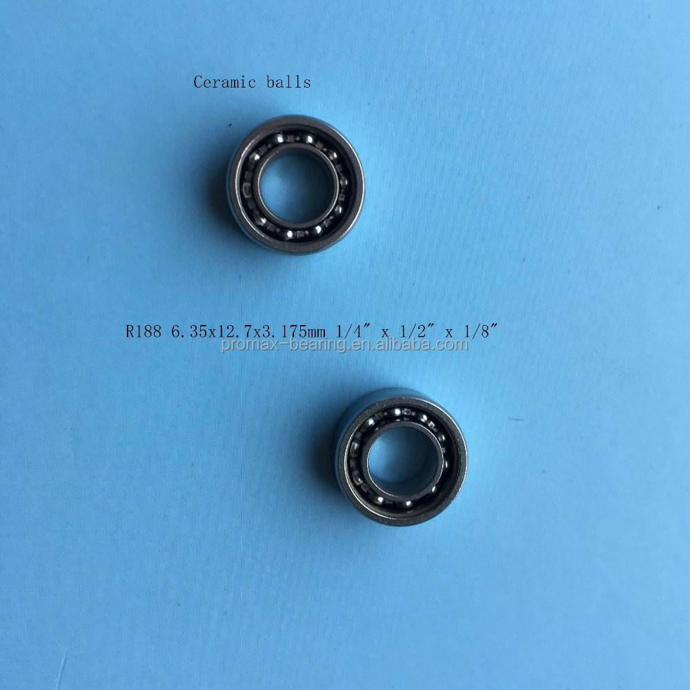 China best sale Fidget Spinner hybrid ceramic bearings R188 6.35x12.7x4.76mm <strong>1</strong>/4&quot; <strong>x</strong> <strong>1</strong>/2&quot; <strong>x</strong> 3/16&quot;