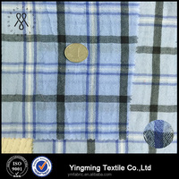100%polyester blue and white yarn dyed fabric for shirt