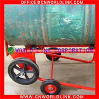 Four Wheels Strong Metal Oil Drum Moving Cart