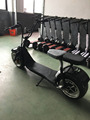2017 newest fashion 2 wheel electric scooter electric mobility scooter fat wheel electric scooter with front suspension