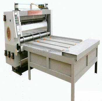 single color pizza box flexo printing machine/slotting machine