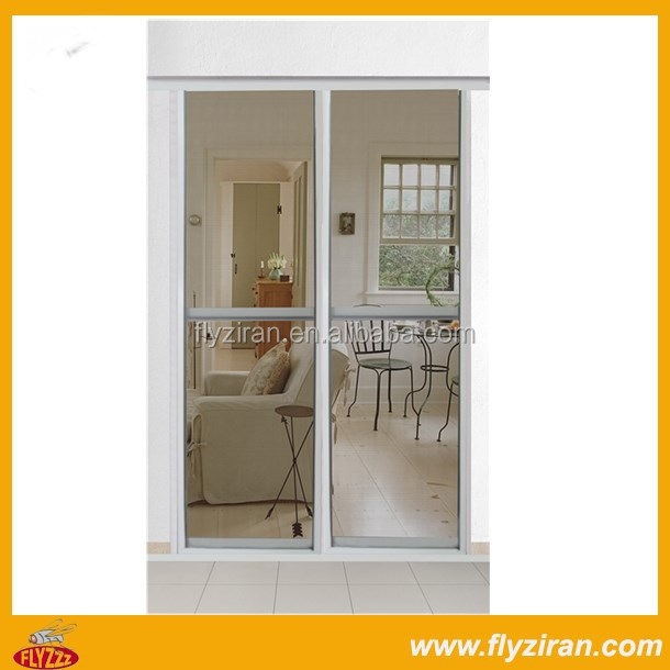 Retractable insect screen for door with aluminum frame for Sliding screen door frame