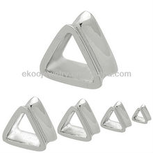 Body Jewelry 316L Surgical Steel Casting Flared Triangle Plug Triangle Ear Tunnel Triangle Earlets