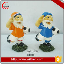 Cute football player gnome statue