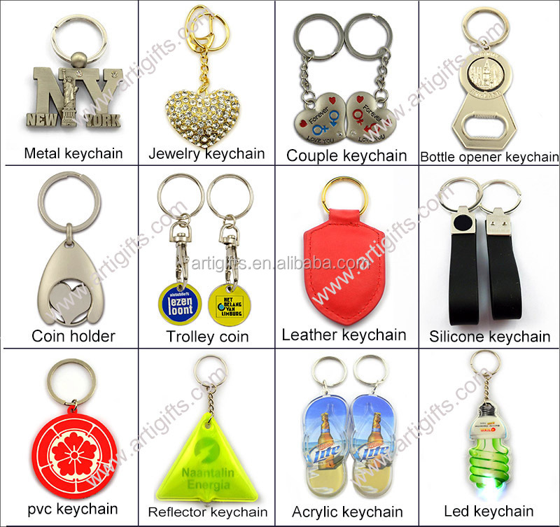 2016 3D deisgn make your own logo metal key chain