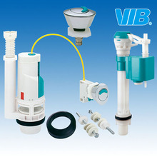 Toilet Spare Parts of Bottom Inlet Fill Valve with Height Adjustment and Cable Dual Flush Valve