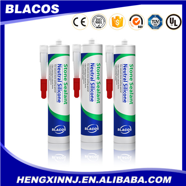 Broad Adhesion Non Yellowing Silicone Based Waterproof Construction Adhesive