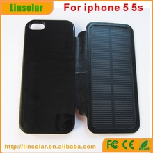 Protective leather solar case 2800mah digits display solar case charger for iphone 5